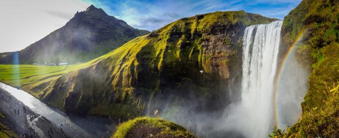 Skogafoss Wasserfall in Island