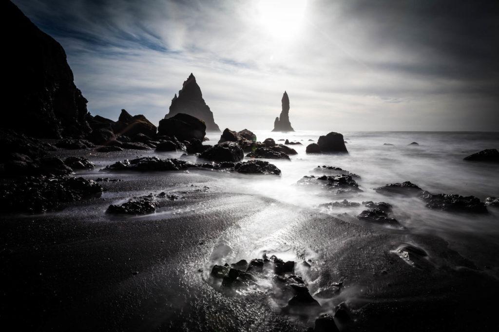 Der schwarze Strand auf Island