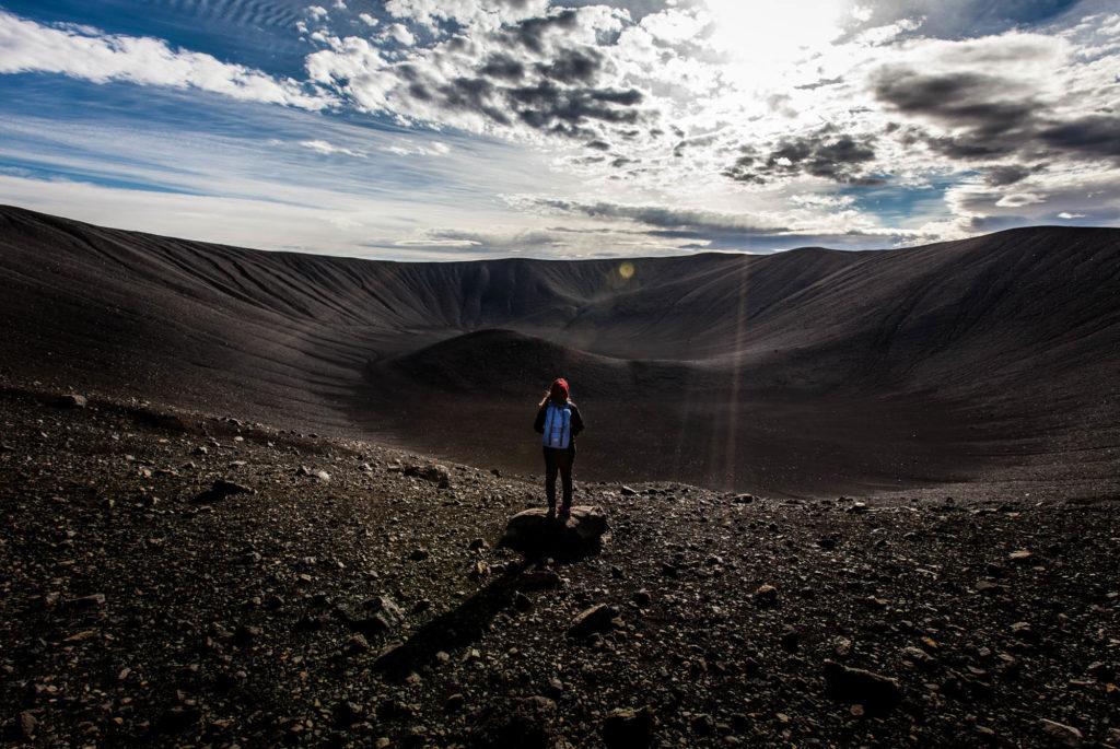 Unterwegs am Krater des Hverfjall