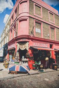 Portobello Road in Notting Hill - London