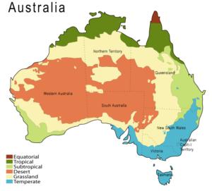 Klimazonen in Australien