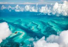 Die türkisen Bahamas von oben