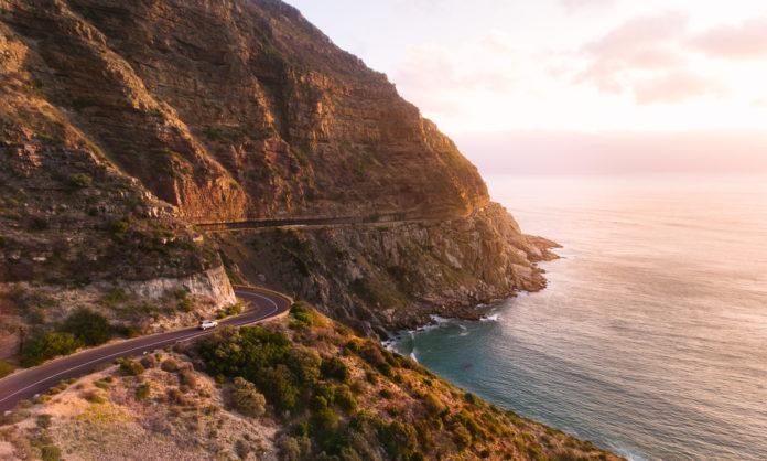 Die Garden Route entlang der Küste in Südafrika