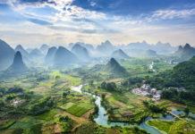 Drohnenaufnahme Guilin in China