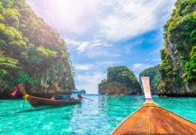 Longtailboote in Krabi