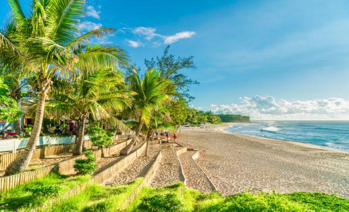 Gemütlicher Strand auf La Réunion