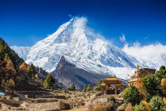 Mount Manaslu an einem klaren Tag