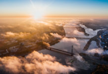 Drohnenansicht von Riga