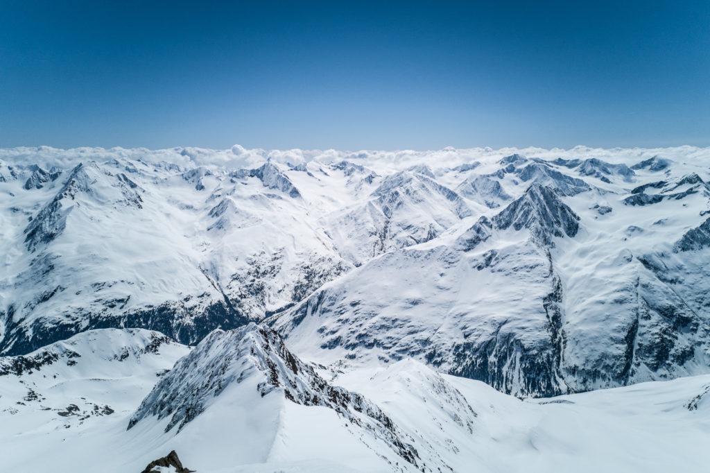 Panorama vom Skidepot der Wildspitze