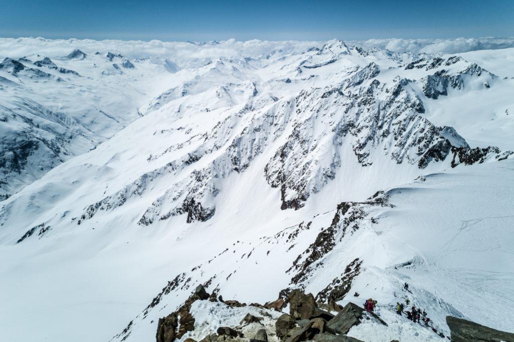 Der Gipfelgrat auf die Wildspitze im Winter