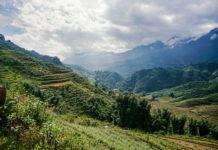 Landschaft von Sa Pa mit Wolken